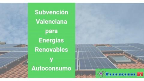 Subvención Valenciana para Energías Renovables